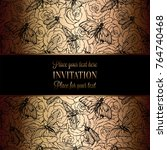 vintage baroque wedding... | Shutterstock .eps vector #764740468