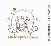 fairy tale   cartoon animal ...   Shutterstock .eps vector #764742409