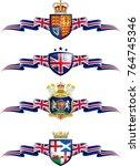 united kingdom patriotic banner ... | Shutterstock .eps vector #764745346