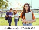 students asian portrait... | Shutterstock . vector #764747530