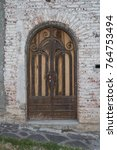 ornate arched door an old