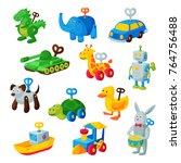 clockwork toy key vector... | Shutterstock .eps vector #764756488