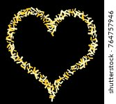 magic golden confetti....   Shutterstock .eps vector #764757946