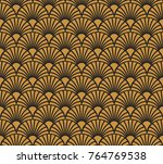 vintage art deco seamless... | Shutterstock .eps vector #764769538