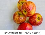 five apples on the table | Shutterstock . vector #764771044