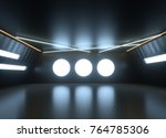 abstract black interior of a... | Shutterstock . vector #764785306