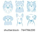 dog's face illustration | Shutterstock .eps vector #764786200