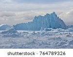 icebergs piled up in the... | Shutterstock . vector #764789326