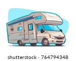 modern recreation vehicle... | Shutterstock .eps vector #764794348