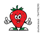 cartoon strawberry character... | Shutterstock .eps vector #764798290