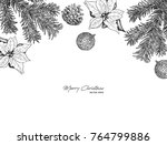christmas concept hand draw... | Shutterstock .eps vector #764799886