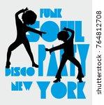 funk soul girls graphic design...   Shutterstock .eps vector #764812708