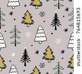 seamless christmas patterns...   Shutterstock .eps vector #764815693