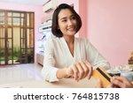 beautiful vietnamese young... | Shutterstock . vector #764815738