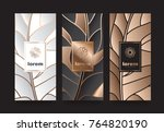 vector set packaging templates... | Shutterstock .eps vector #764820190