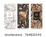 vector set packaging templates... | Shutterstock .eps vector #764820193