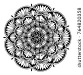 mandalas for coloring book.... | Shutterstock .eps vector #764820358