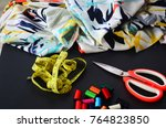 colorful textile thread ... | Shutterstock . vector #764823850