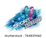 color vector snowboarder....   Shutterstock .eps vector #764835460