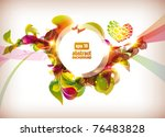 abstract colorful flovers... | Shutterstock .eps vector #76483828