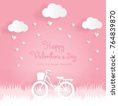 valentines card with sweet pink ... | Shutterstock .eps vector #764839870