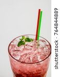 cherry mihito coctails | Shutterstock . vector #764844889