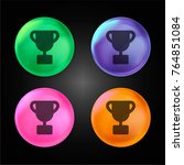 trophy crystal ball design icon ... | Shutterstock .eps vector #764851084