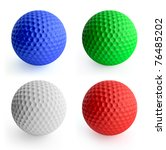 Four Color Golf Ball Red  Gree...
