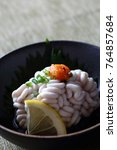 Small photo of Cod milt with ponzu sauce, Japanese food