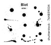 blot vector set realistic