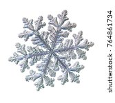 snowflake isolated on white... | Shutterstock . vector #764861734