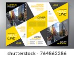 business brochure. flyer design.... | Shutterstock .eps vector #764862286