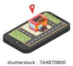 mobile navigation  vector... | Shutterstock .eps vector #764870800