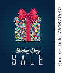 boxing day sale. christmas...   Shutterstock .eps vector #764871940