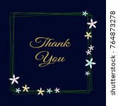 thank you greeting card. citrus ... | Shutterstock .eps vector #764873278