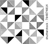 hand drawn patterned triangles... | Shutterstock .eps vector #764874814