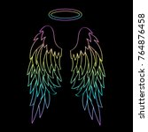 beautiful angel wings with a...   Shutterstock .eps vector #764876458
