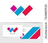 letter w logo vector concept... | Shutterstock .eps vector #764885920
