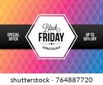 black friday design element... | Shutterstock .eps vector #764887720