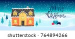 abstract christmas background... | Shutterstock .eps vector #764894266