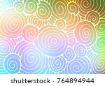 light multicolor  rainbow... | Shutterstock .eps vector #764894944