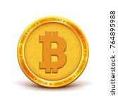 bitcoin   virlual money  ... | Shutterstock .eps vector #764895988