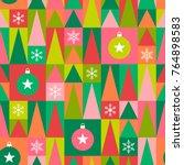 bright geometric christmas... | Shutterstock .eps vector #764898583