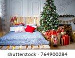 beautiful christmas interior | Shutterstock . vector #764900284