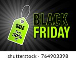 black friday price tag with... | Shutterstock .eps vector #764903398