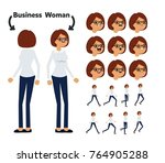 character is a business woman.... | Shutterstock .eps vector #764905288