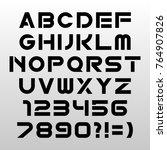 techno font on white background.... | Shutterstock .eps vector #764907826