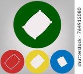 pillow sign illustration.... | Shutterstock .eps vector #764912080