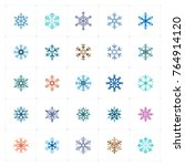 mini icon set   snowflake icon... | Shutterstock .eps vector #764914120