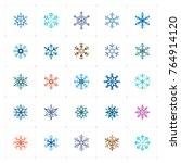 mini icon set   snowflake icon... | Shutterstock .eps vector #764914120